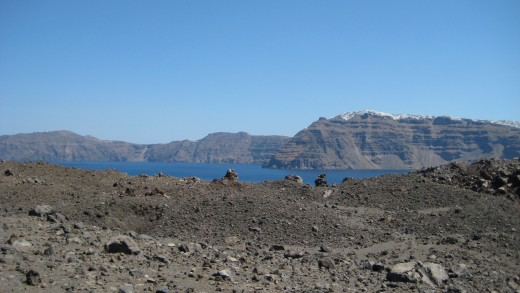 photo view taken from the volcanic island.