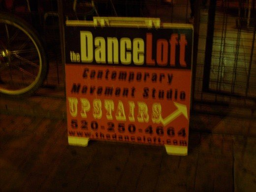 Dance Loft above Heart V Club in Tucson - space formally occupied by an illegal abortionist and supposedly haunted by ghost of woman who died as a result of botched illegal abortion there during World War II