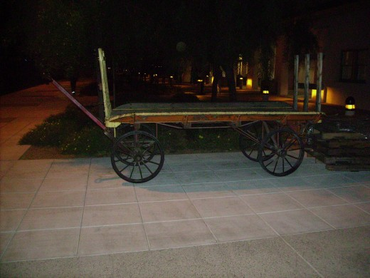Old luggage cart in Amtrak Train Station in Tucson, AZ