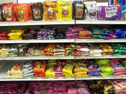 Name-brand candy can be a good bargain at dollar stores.