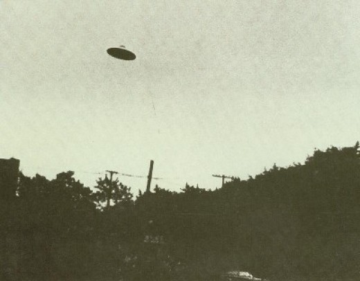 A UFO captured by camera