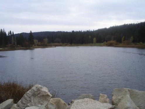 Grass Valley Lake in the San Bernardino Mountains.