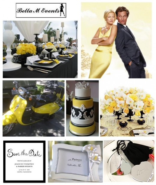 Bella M Events Yellow White