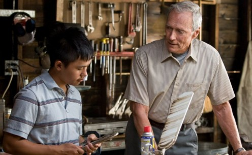 "Scene from ""Gran Torino"" - Walt teaching Thao about tools."