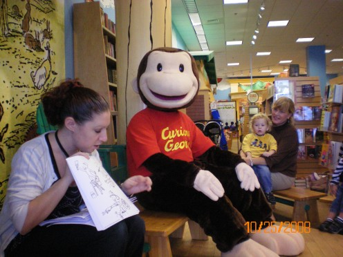 Story Time With Curious George At Barnes and Nobles.
