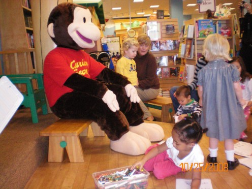 Curious George At Barnes and Nobles.