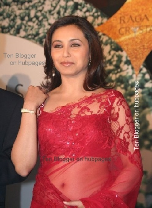 rani mukherjee is hot new red saree