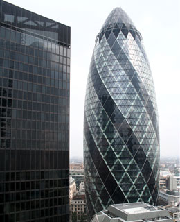 Gherkin(The Cucumber)St Mary's Bldg. (Dave Smith from Northolt)