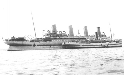 The Britannic at Mudros