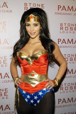 Kardashian  Woman Costume on Kim Kardashian As Wonder Woman