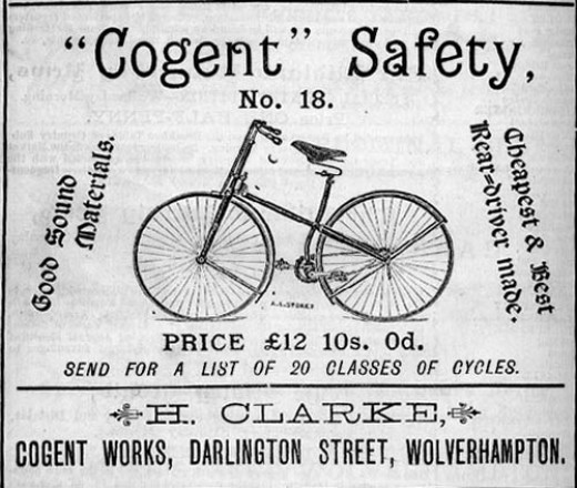 "1887 ""safety"" bicycle"