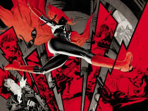 Batwoman's eye popping art