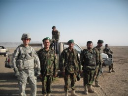 Alex with Afghan soldiers