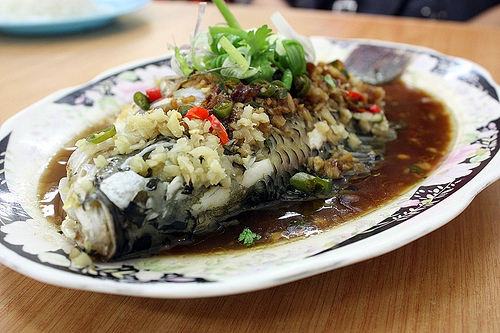 Delicious Steamed Tilapia.Tilapia is a wonderful fish to steam. Really one of the very best.