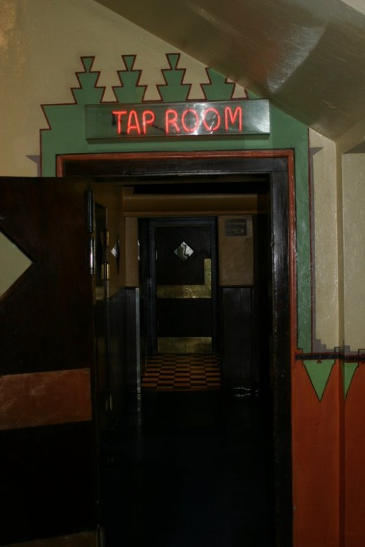 Entrance to Tap Room Lounge in Hotel Congress in Tucson, AZ