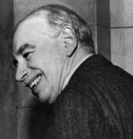 British Economist John Maynard Keynes (Cropped image from 1946 International Monetary Fund Photo courtesy of WikiPedia.org  http://en.wikipedia.org/wiki/File:John_Maynard_Keynes.jpg)
