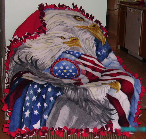 Her own 4th of July Blanket