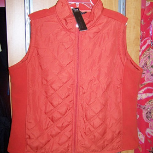 BC Clothing for Women orange fleece vest  $19.99 compare at $34.00