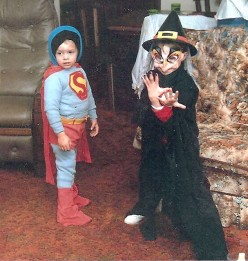 DIY for your Kids--Children's Halloween Costume Ideas-How to make Superman Witch Cat Smurf Indian or Care Bear!