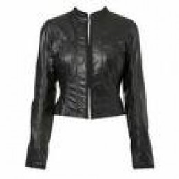 Fitted Leather Jacket for Women