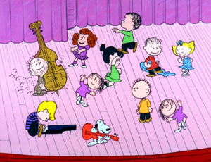 A Charlie Brown Christmas dance scene