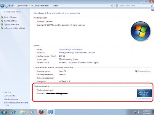make windows 7 professional genuine
