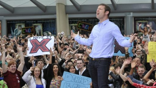 X Factor's equivalent of Ryan Seacrest, namely Dermot O'Leary