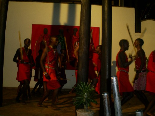 Another caption of the maasai dance