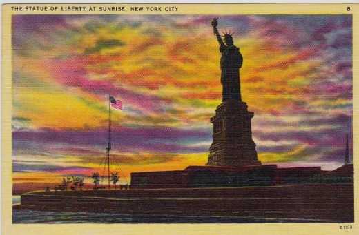 Statue of Liberty at Sunrise, New York City