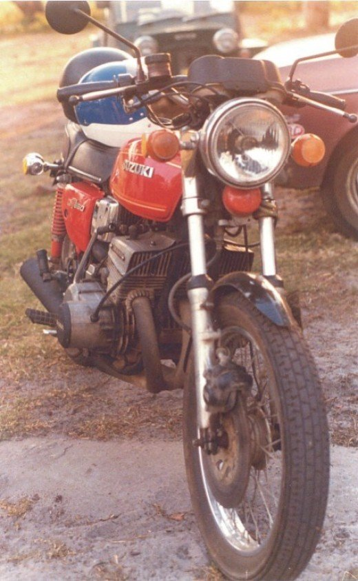 GT550 With 3 into One Pipes, Koni Shockers, Custom Guards