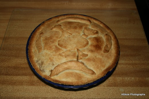 Fresh from the oven. That's supposed to be a turkey standing atop a new moon.