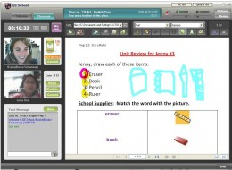 Virtual Teaching English to a Korean student.