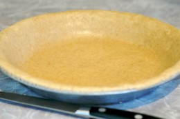 Once you have your pies in the graham cracker pie shells you will be wanting to cut the pies. But you'll want to wait.