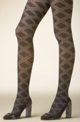 Criss-cross textured tights.