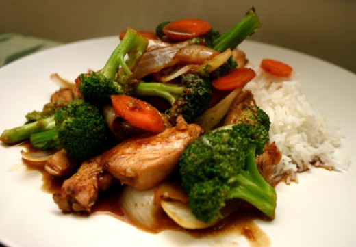 sweet ginger broccoli stir-fry recipe with chicken
