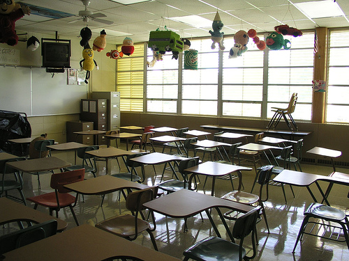 School equipment in a typical classroom