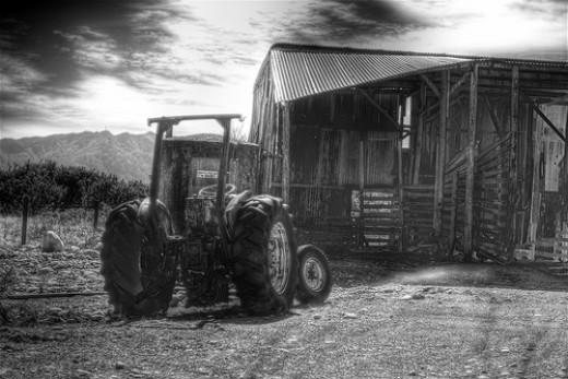 Farm Equipment At Work