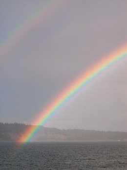 Rainbows are awe-inspiring reflections of hope.