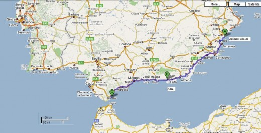 We drove over 631km from Arenales del Sol to Gibraltar to get married