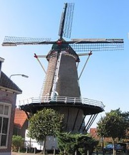 Old time Dutch wind mill