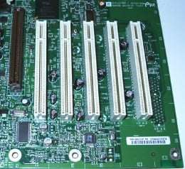 An average series PCI slots.  PCI Slots are generally grouped together.