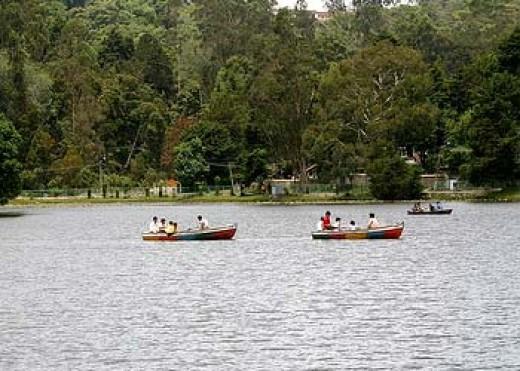 Boating lake at Kodaikanal