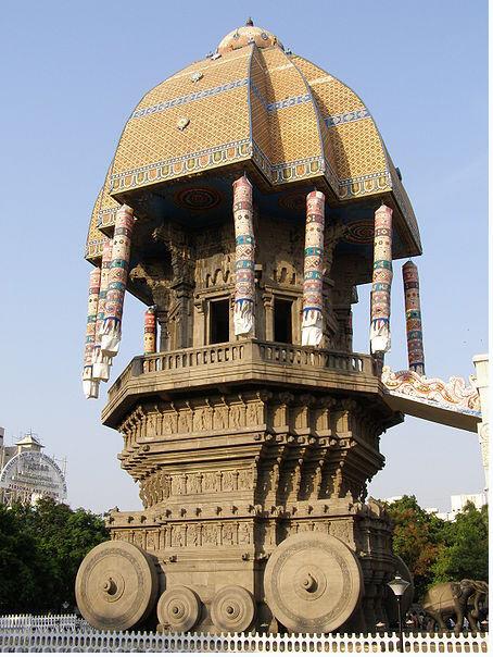 Stone chariot at Valluvar kottam