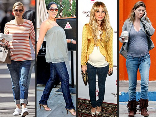 Ways To Look Like The Celebs In Designer Maternity Jeans