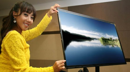 At only 1.5cm thick this Samsung LCD TV is amazingly thin!