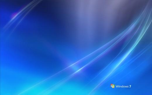 The simple blue Windows 7