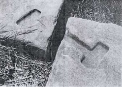 Indentations for bronze cramps used at Pumapunku