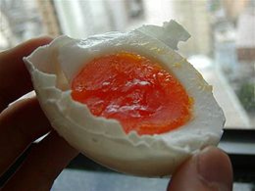 Salty egg-making originated in China.