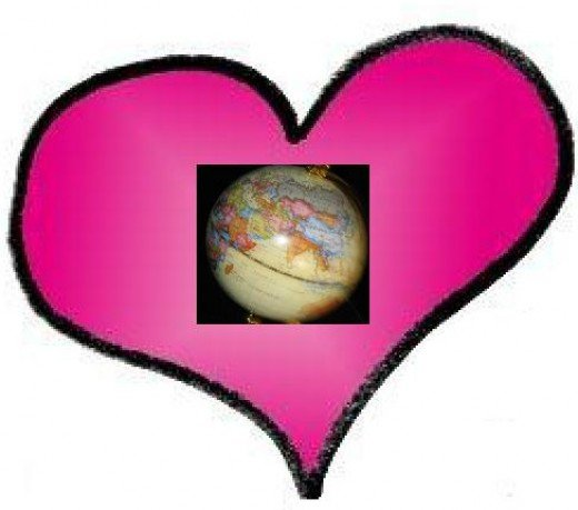 Valentine Heart with globe