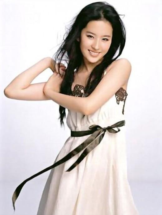 Beautiful woman Chinese Actress Liu Yifei
